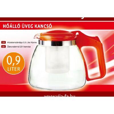 HŐÁLLÓ  SZŰRŐS ÜVEG KANCSÓ 0,9 Literes