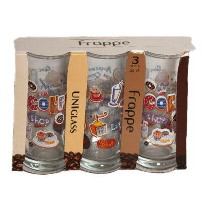 Üveg FRAPPE pohár 0,29 literes